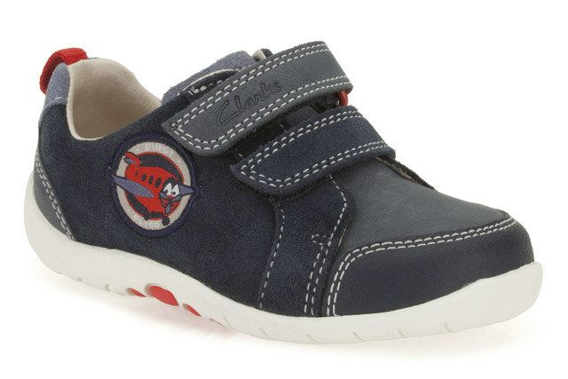 Clarks Soft Plane Fst E Fit Navy first shoes