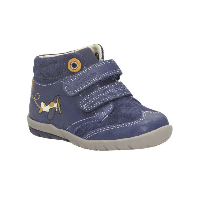 Clarks Softly Alex Fs F Fit Navy first shoes