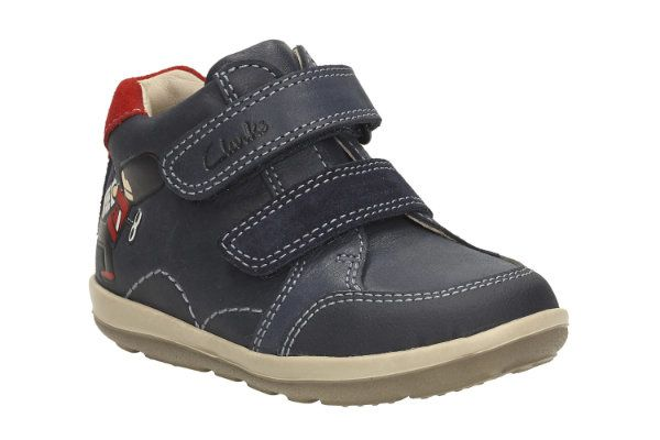 Clarks Softly Bop Fst G Fit Navy first shoes