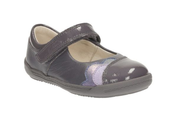 Clarks Softly Caz F Fit Grey first shoes