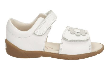 Clarks Softly Eve Fst F Fit White first shoes