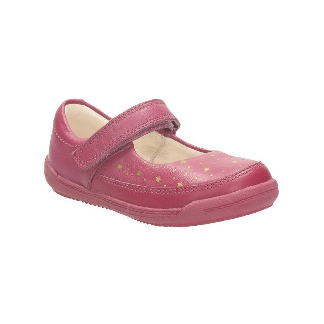 Clarks Softly Ida Fst F Fit Pink first shoes