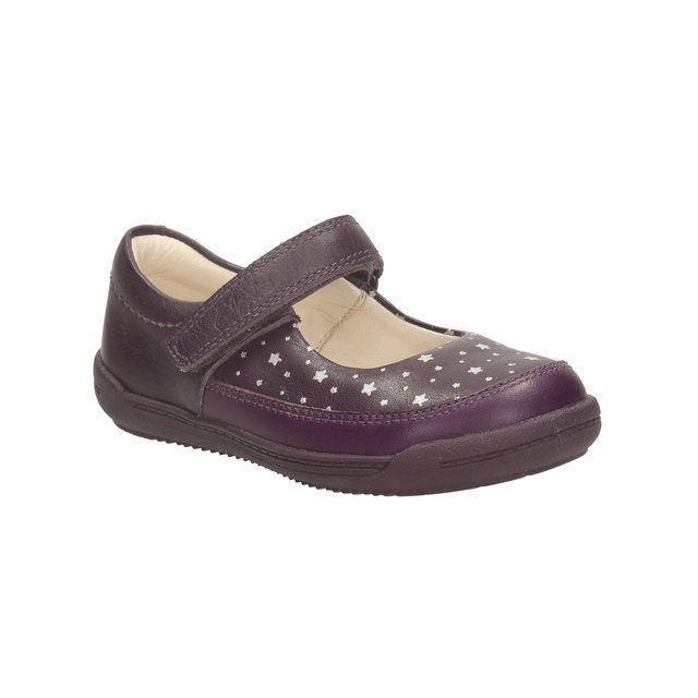 Clarks First Shoes - Purple - 1040/17G SOFTLY IDA FST