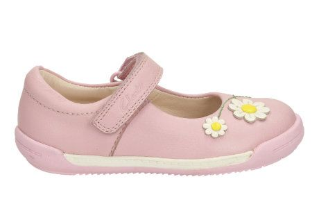 Clarks Softly Jam Fst F Fit Pale pink first shoes