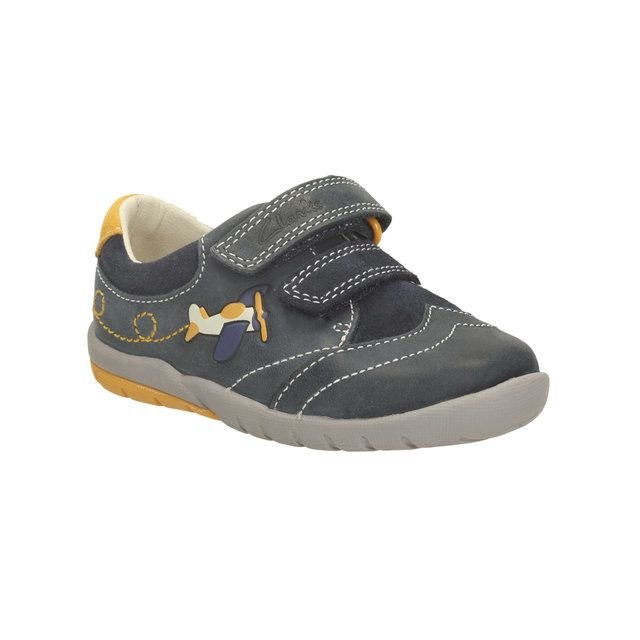 Clarks Softly Liam Fs G Fit Navy first shoes