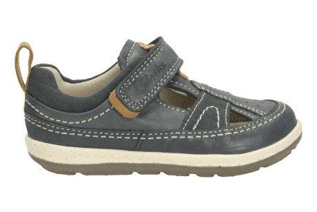 Clarks First Shoes - Navy - 1581/56F SOFTLY LUKE FS
