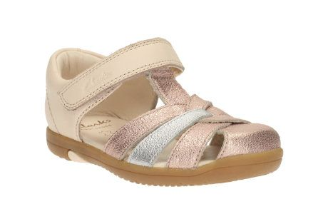 Clarks Softly Mae Fst F Fit Pink first shoes