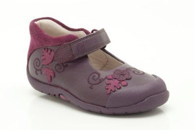 Clarks Softly Mya Fst G Fit Purple first shoes