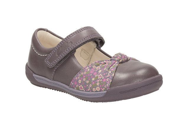 Clarks Softly Nia Fst F Fit Purple first shoes