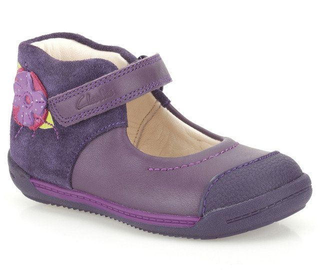 Clarks Softly Rose Fs F Fit Purple first shoes