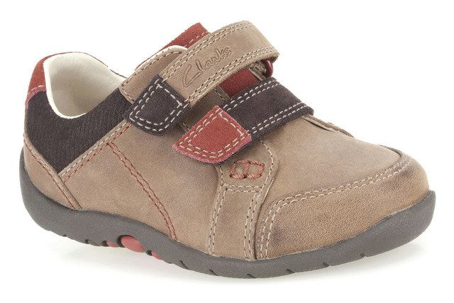 Clarks Softly To Fst H Fit Brown first shoes