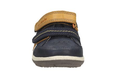 Clarks Softly Zakk Fs F Fit Navy first shoes