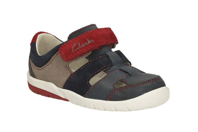 Clarks Softlymoon Fst G Fit Navy multi first shoes