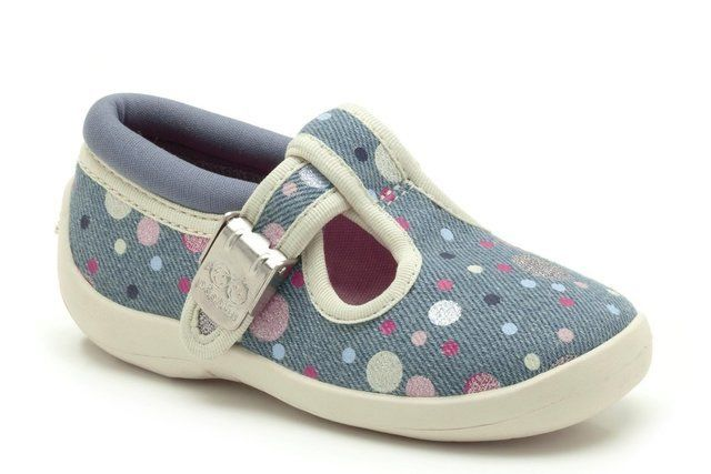 Clarks Sophia May G Fit Denim blue trainers