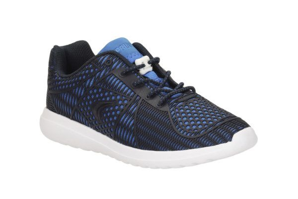 Clarks Sprintlane Jnr F Fit Blue trainers