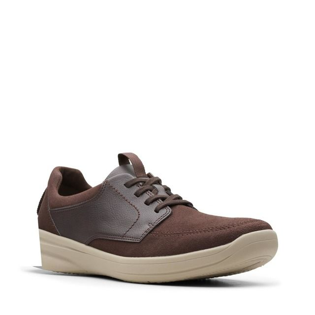 Clarks Casual Shoes - Brown leather - 489787G STEPSTROLL LACE