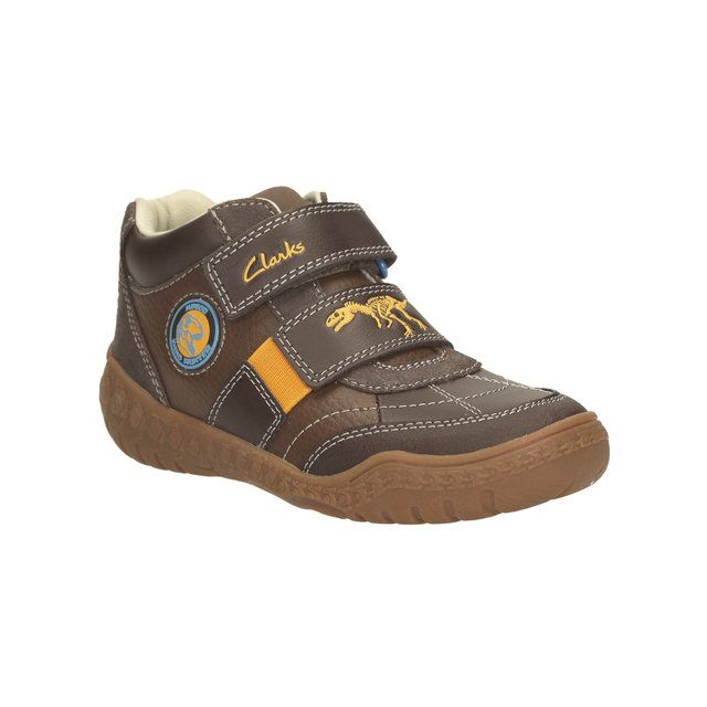 Clarks Stomp Grip Inf G Fit Brown boots