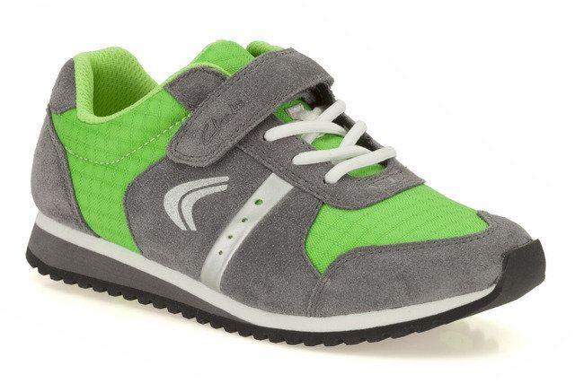 Clarks Super Jog Inf G Fit Green multi trainers
