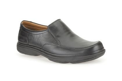 Clarks Swift Step H Fit Black casual shoes