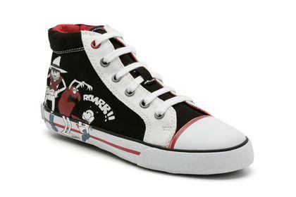 Clarks Swing Hi Jnr G Fit Black school shoes
