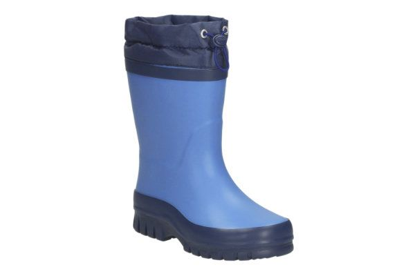 Clarks Swizzle Sam G Fit Blue wellies