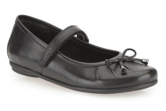 Clarks Tasha Abby Jnr G Fit Black school shoes