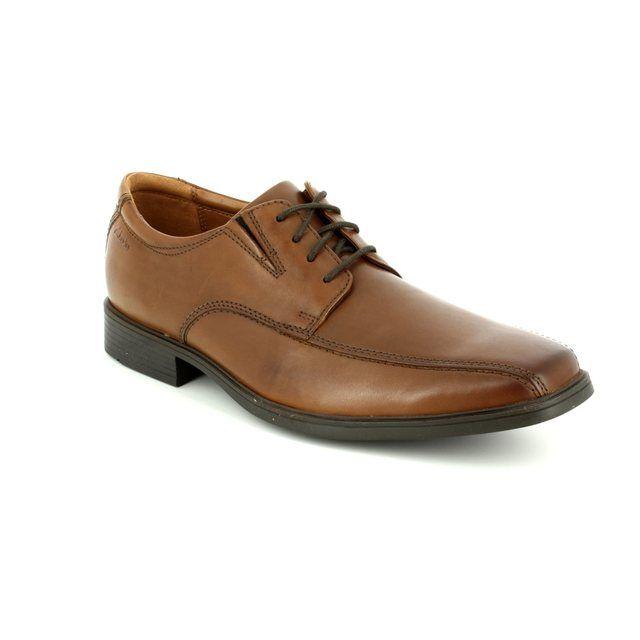 Clarks Tilden Walk G Fit Dark Tan formal shoes
