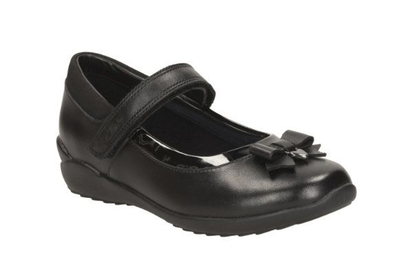 Clarks School Shoes - Black - 1889/17G TING FEVER INF