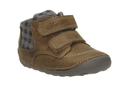 Clarks Tiny Jay G Fit Tan first shoes