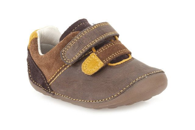 Clarks Tiny Seb F Fit Brown first shoes