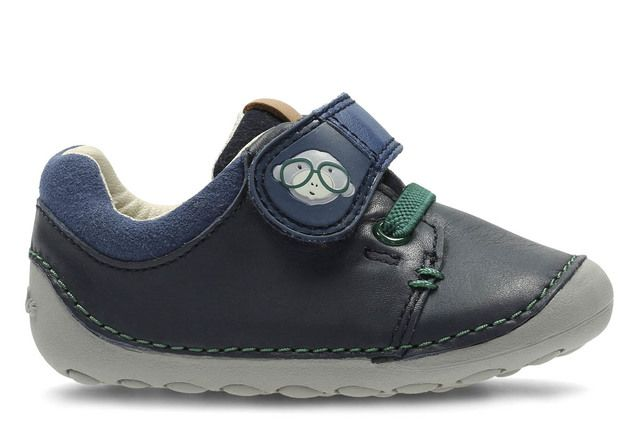 e2fc8841b521 Clarks Tiny Tom F Fit Navy first shoes