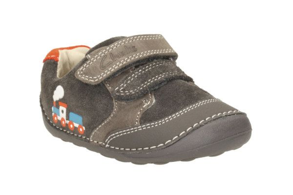 Clarks Tiny Tom G Fit Dark Grey first shoes