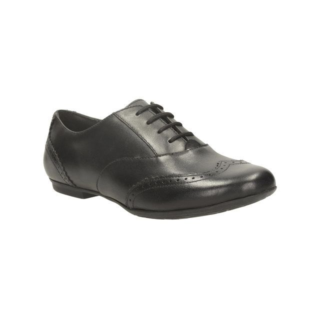 Clarks Tizz Honey Bl F Fit Black school shoes