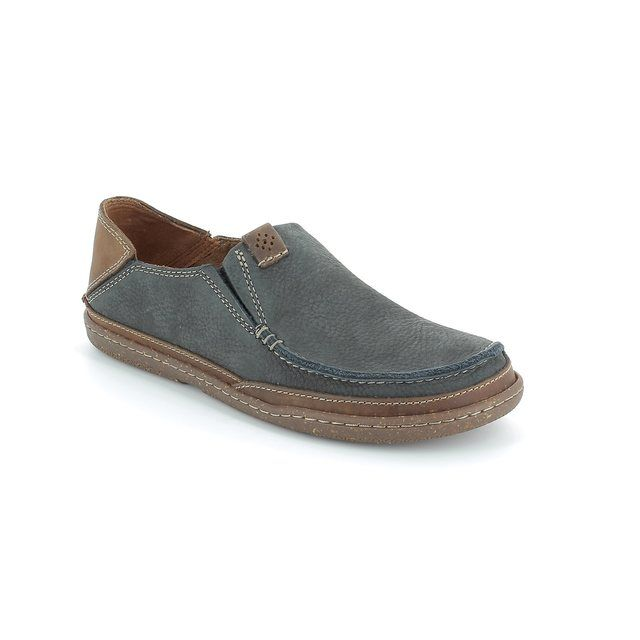 Clarks Casual Shoes - Navy/tan - 1505/97G TRAPELL FORM
