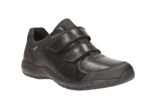Clarks Traxfun Gtx Bl F Fit Black school shoes