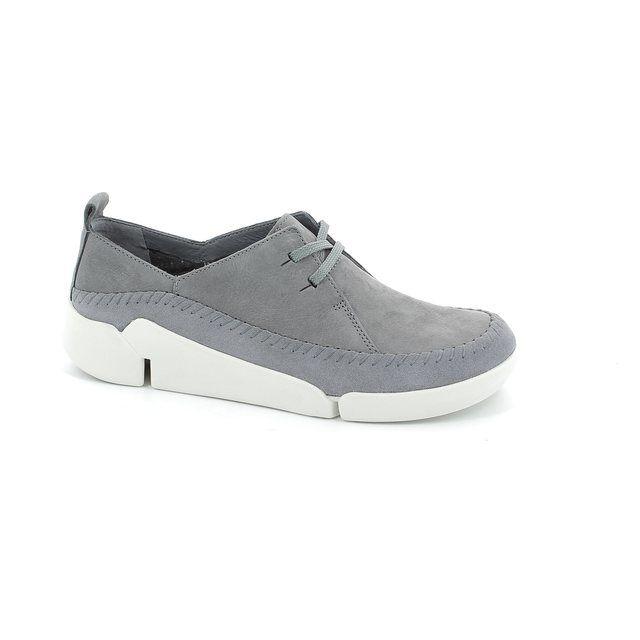 Clarks Tri Angel D Fit Denim blue lacing shoes