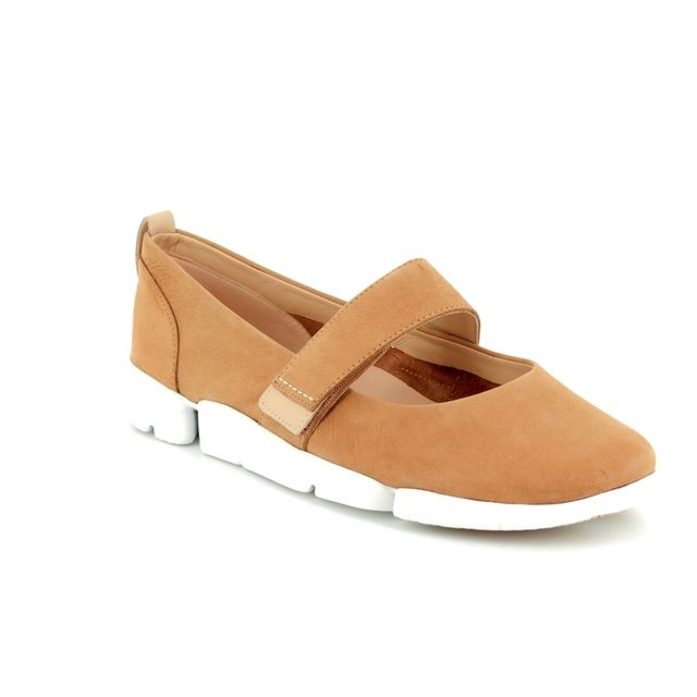 Clarks Mary Jane Shoes - Tan - 3110/64D TRI CARRIE