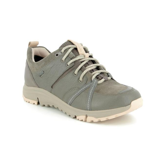 Clarks Walking Shoes - Khaki Nubuck - 3521/84D  TRI TREK GTX LO