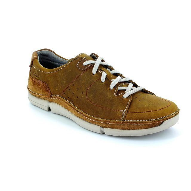 Clarks Trikeyon Mix G Fit Tan casual shoes