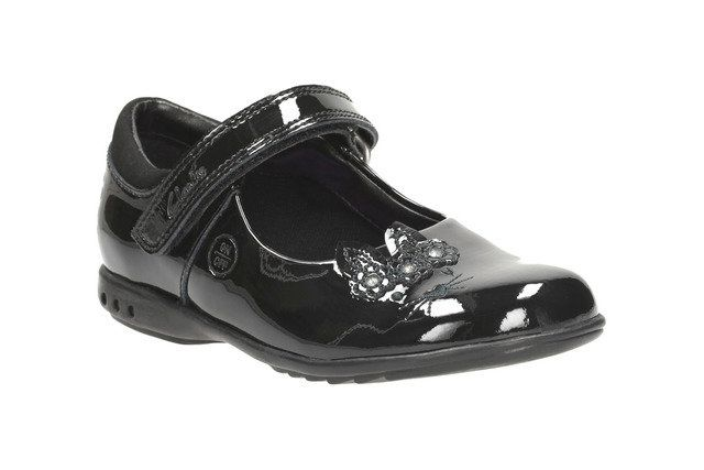 Clarks Trixi Run Inf G Fit Black patent everyday shoes