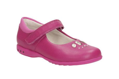 Clarks Trixispice Inf E Fit Pink everyday shoes