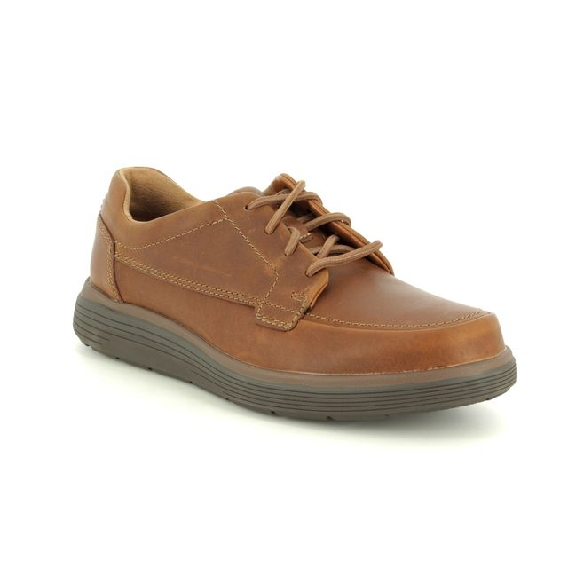 Clarks Casual Shoes - Tan Leather - 3698/28H UN ABODE EASE