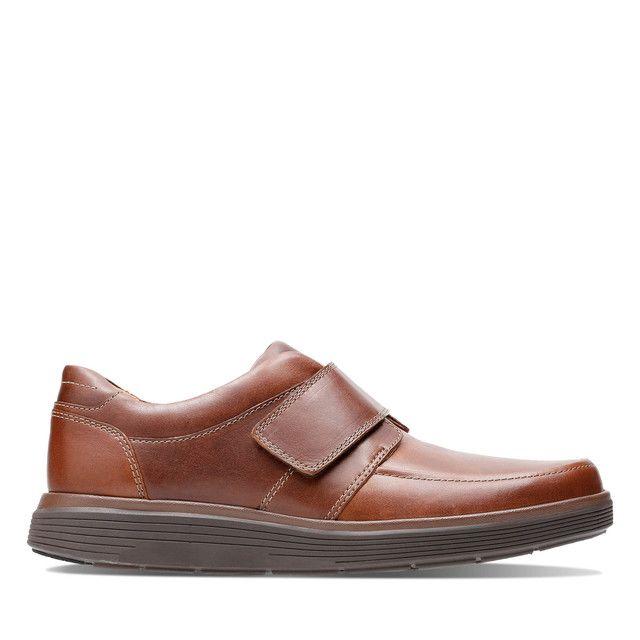 Clarks Casual Shoes - Tan Leather  - 3698/78H UN ABODE STRAP