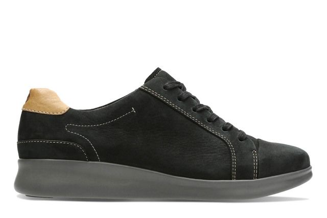 Clarks Lacing Shoes - Black nubuck - 2957/74D UN FLARE