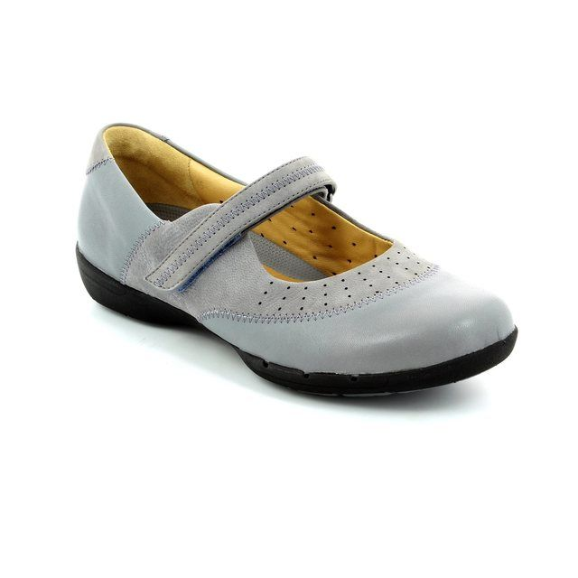 Clarks Un Hazel D Fit Light Grey comfort shoes