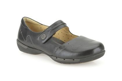 Clarks Un Helma D Fit Black comfort shoes