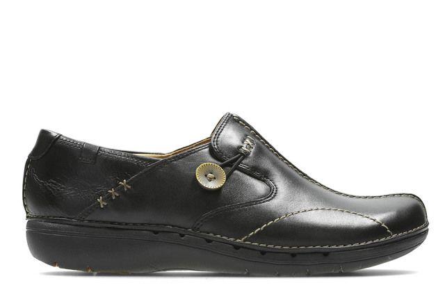 Clarks Comfort Shoes - Black - 1283/74D UN LOOP