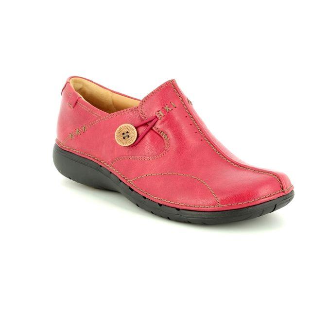 Clarks Comfort Shoes - Red - 3326/94D UN LOOP