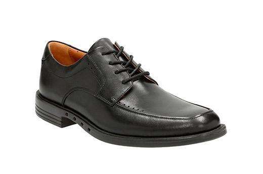 Clarks Unbizley View G Fit Black formal shoes