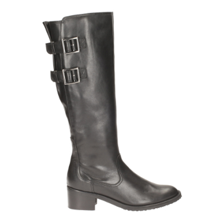 Clarks Valana Diem E Fit Black knee-high boots